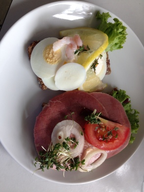 Typical Danish Lunch (open face sandwiches)